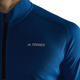 adidas TERREX Trace Rocker 1/2 Zip LS Shirt Men Blue Beauty